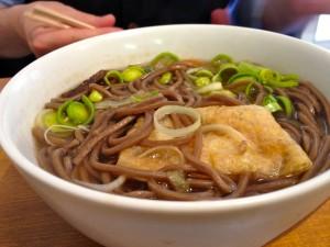 Soba soup at Artcafe Morita